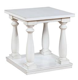 HOMES: Inside + Out IDF-4421WH-E Grabowski End Table, White