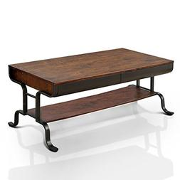 HOMES: Inside + Out IDF-4452C Jackson Coffee Table, Antique