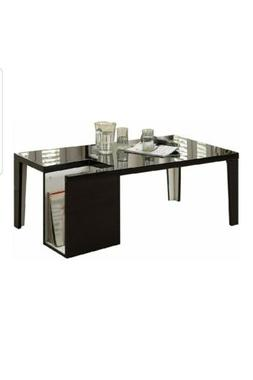 247shopathome idf-4644bk-c naomi coffee table, black.