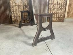 Industrial cast iron Bench/coffee Table base embossed DYI he