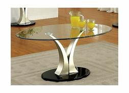 Furniture of America Kassandra Modern Coffee Table, Metallic