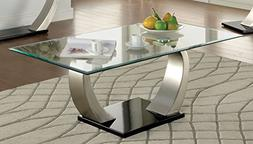 Furniture of America Kassius Modern Coffee Table, Metallic F