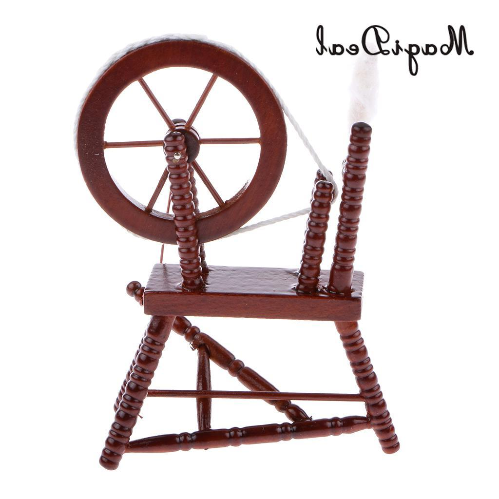 MagiDeal 1/12 Spinning <font><b>Wheel</b></font> Acce for Coffee Room Table Classic