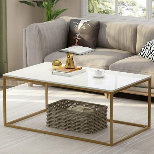 Console Table with Marble Top Gold Frame