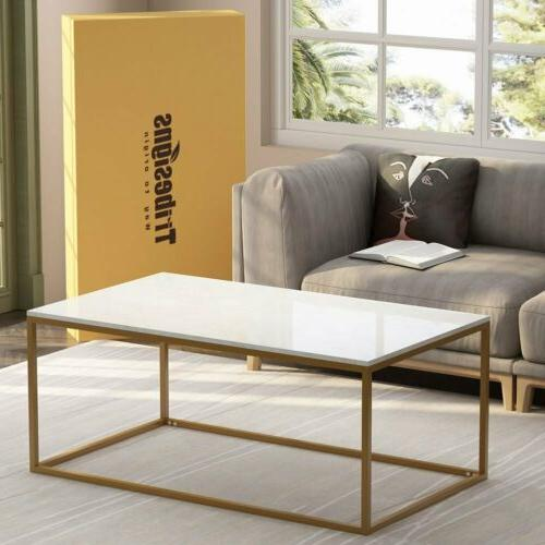 1/ Coffee Console Table Marble Gold Frame