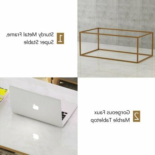 1/ Console Table Marble Gold