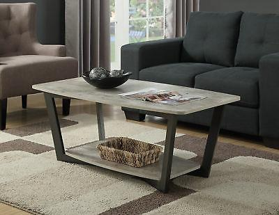 111282gy graystone coffee table faux