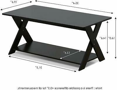 Furinno 16049EX Modern Coffee Table, Design