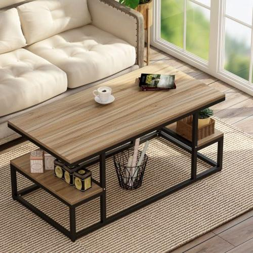 Table with Open Storage Shelf Living 47''*24''*20''