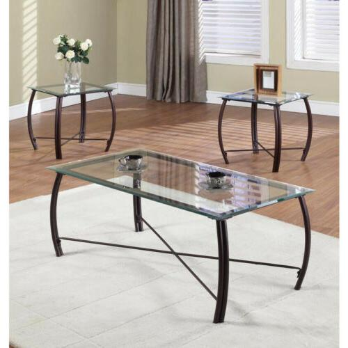 3 pc beveled glass and metal frame