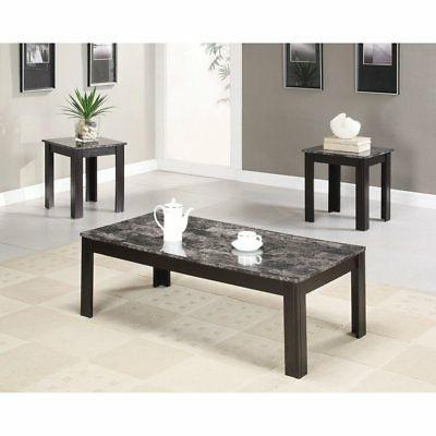 3 piece casual coffee table set