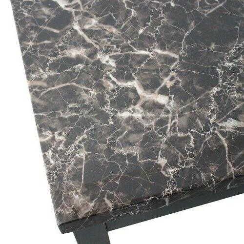 3 Faux Marble and End Table Set with metal