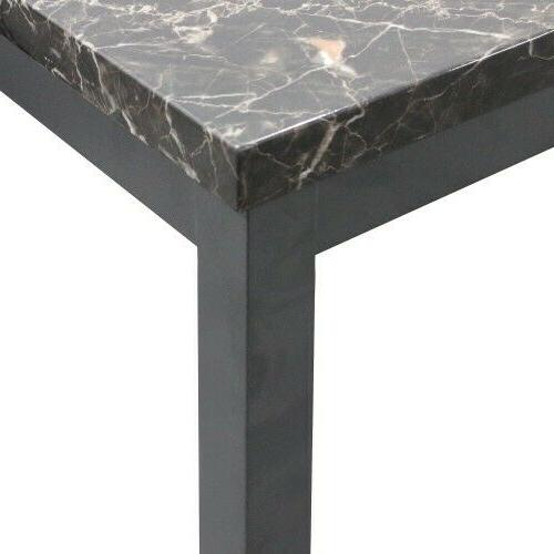 3 Marble Coffee Table with metal legs apron