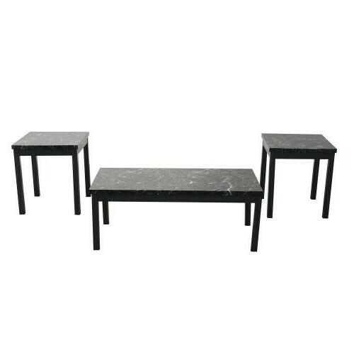3 Marble and Table with metal legs