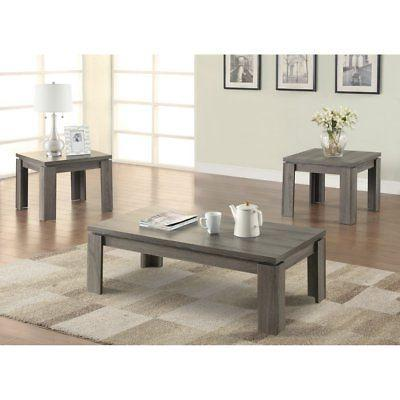 3 piece modern coffee table set
