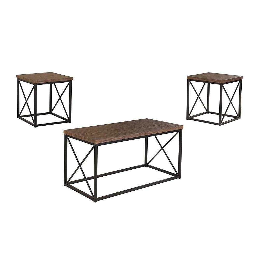 3 piece occasional rectangular coffee table