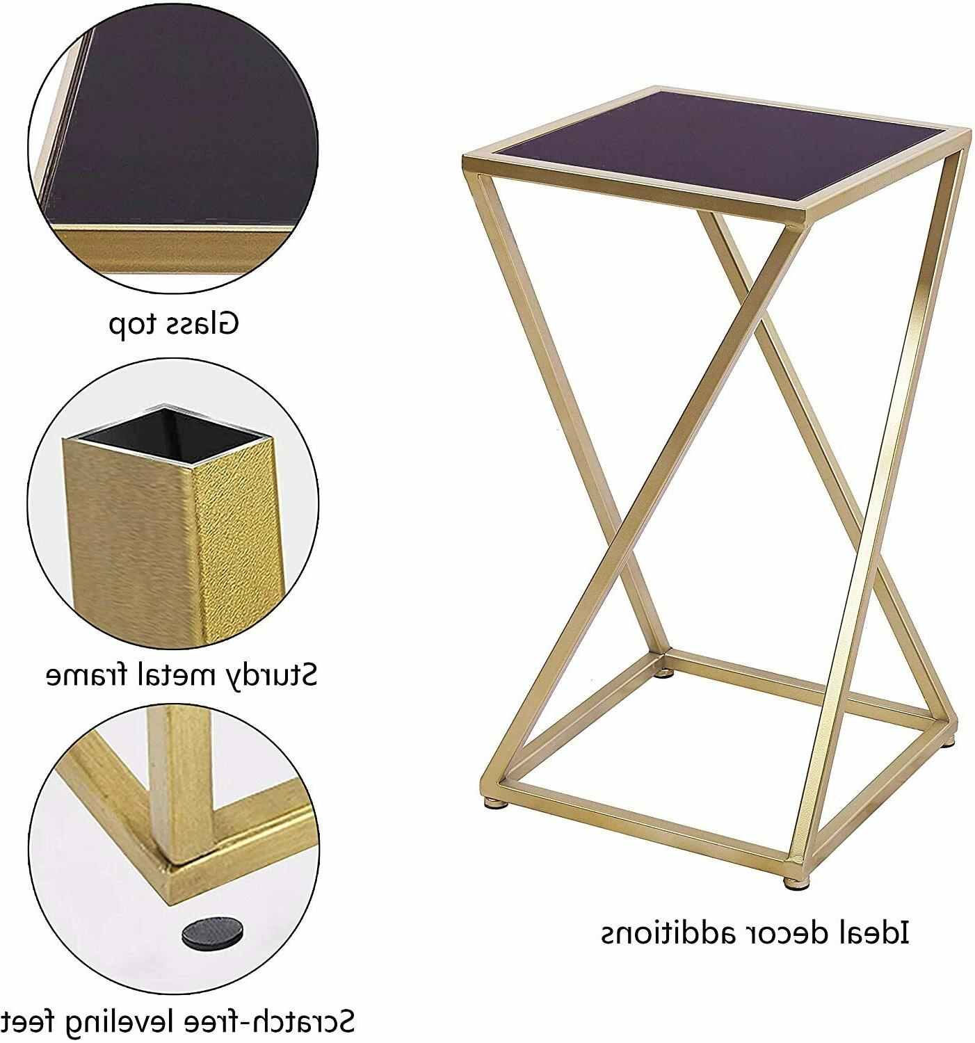 3 Set End Tables Accent Square Side Small Living
