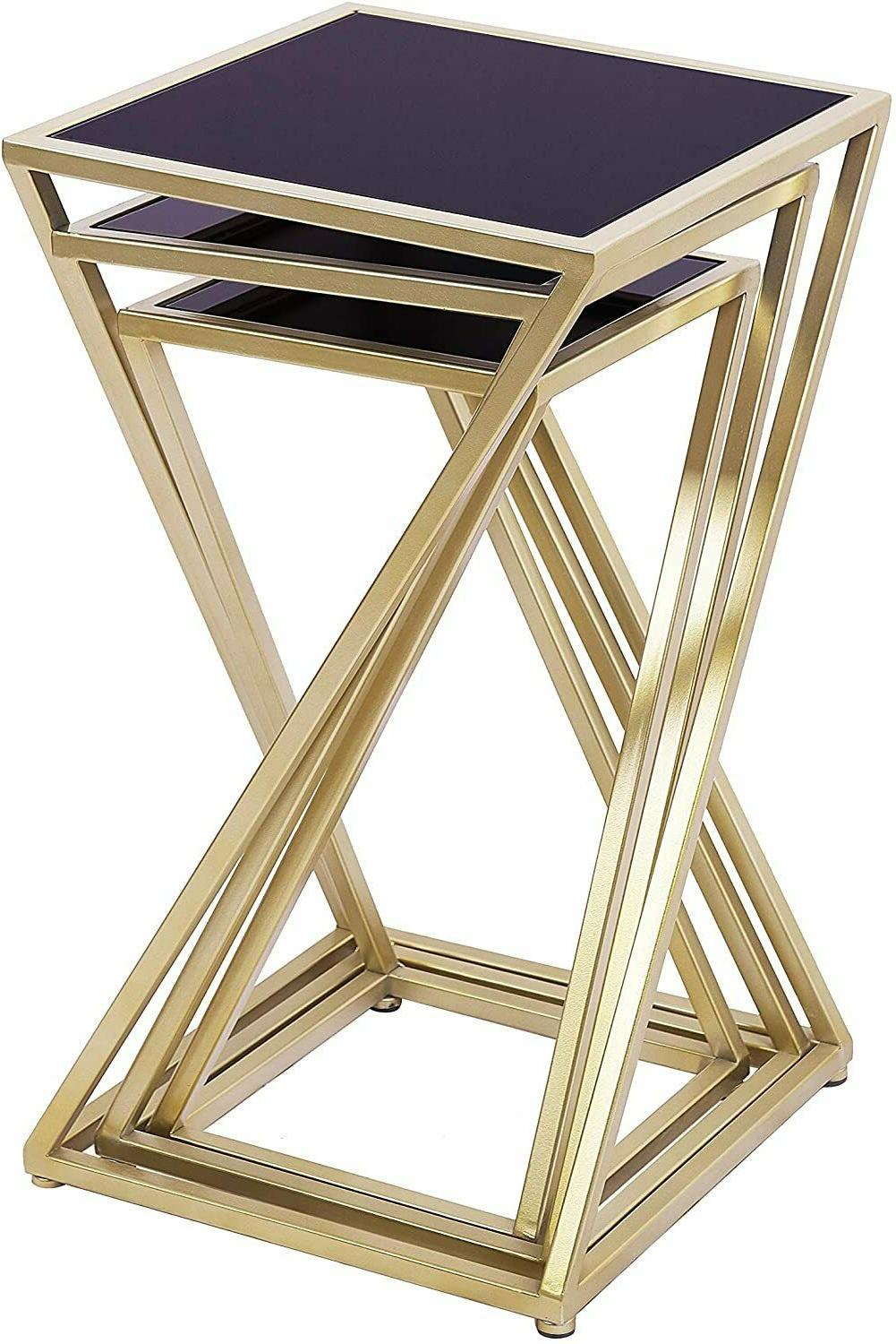 3 set nesting coffee end tables accent
