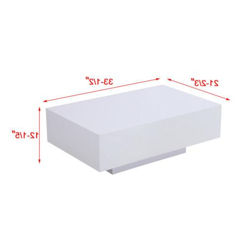Modern Gloss White Coffee Table Side Table