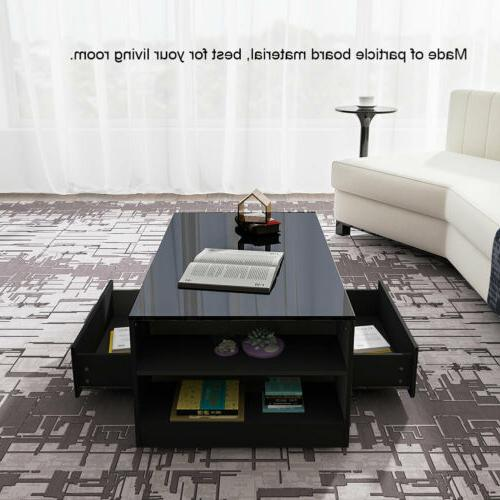 """37"""" Modern Coffee Table Side Table Living w/Drawer"""