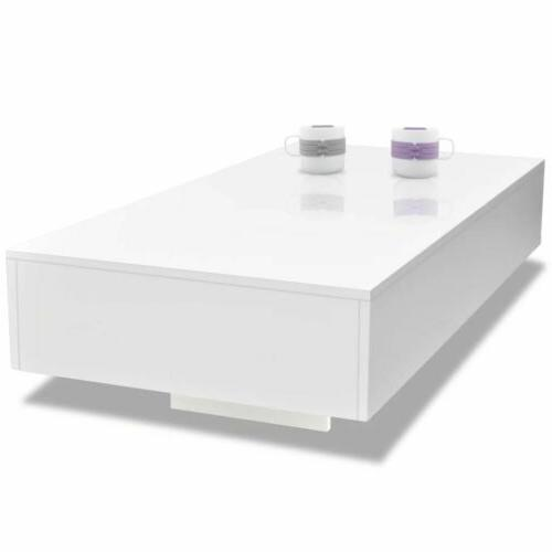 """45"""" High Gloss White Table Side End Table Living Room Furniture US"""