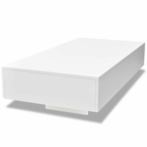 """45"""" White Side End Table Furniture US"""