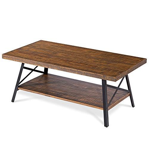 "Olee 46"" Wood & Metal Coffee Rustic"