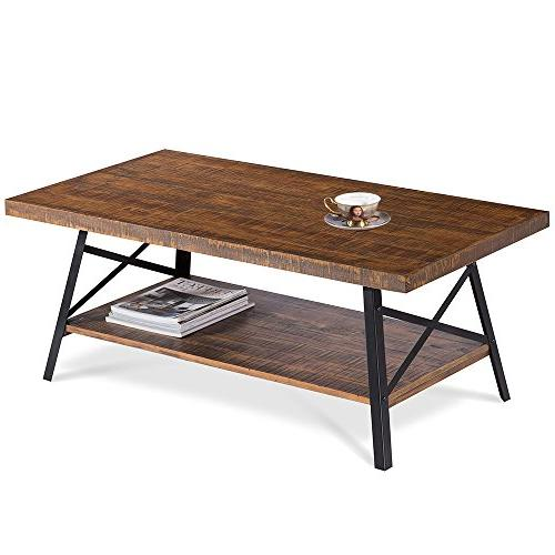 "Olee 46"" Wood Coffee Rustic"