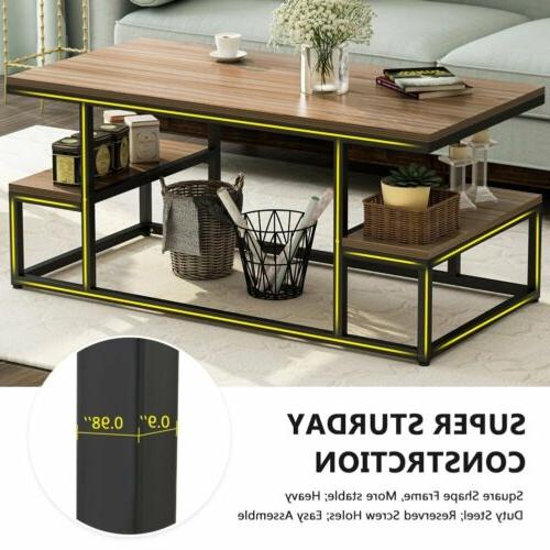 2 Tier Table with Storage