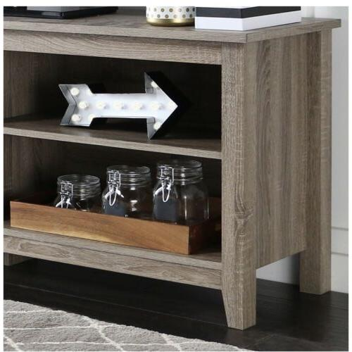 "WE 58"" TV Stand Console Driftwood"