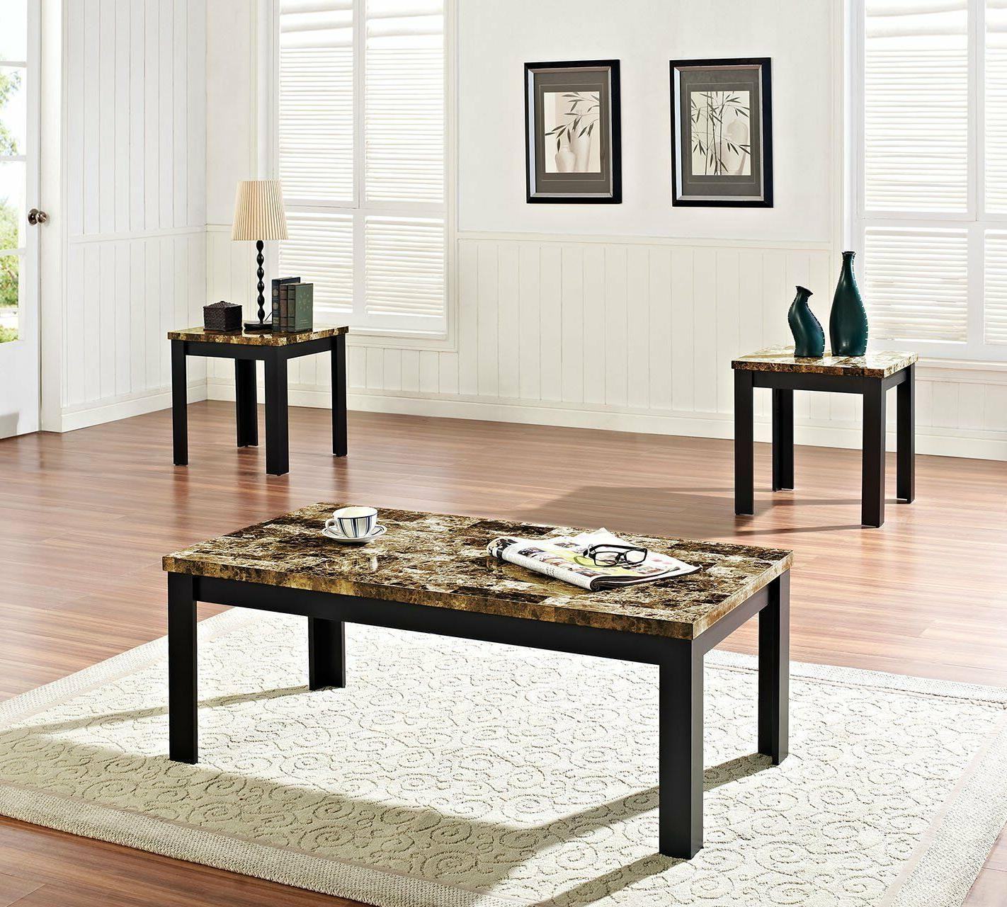 80320 3 piece finely coffee end table