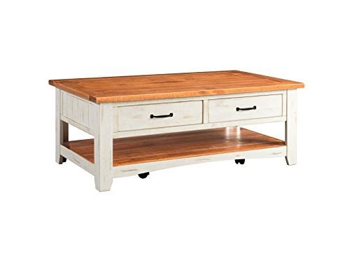 890126 rustic coffee table honey