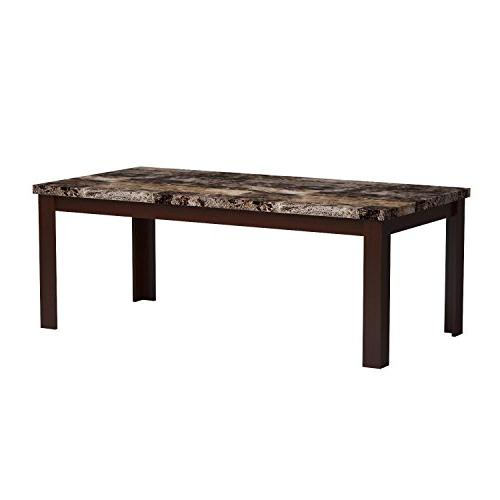 Light Brown Marble Coffee Table Set