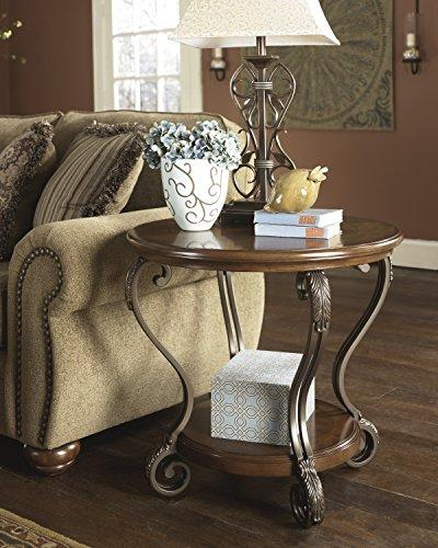 Ashley - Nestor - Traditional Vintage Style - Round Brown