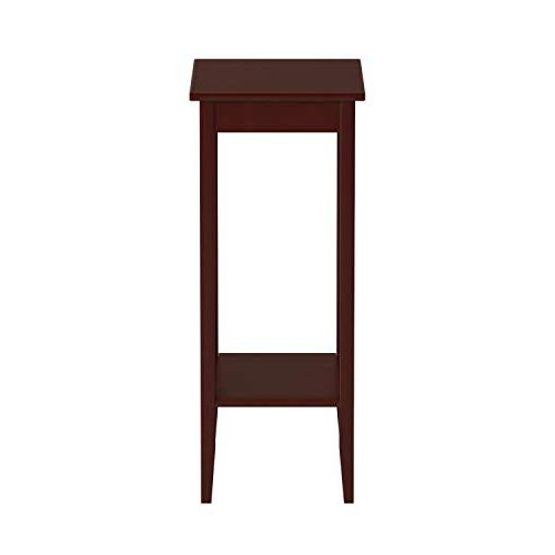 DHP Tall End Table, Simple Small Table, Coffee Brown