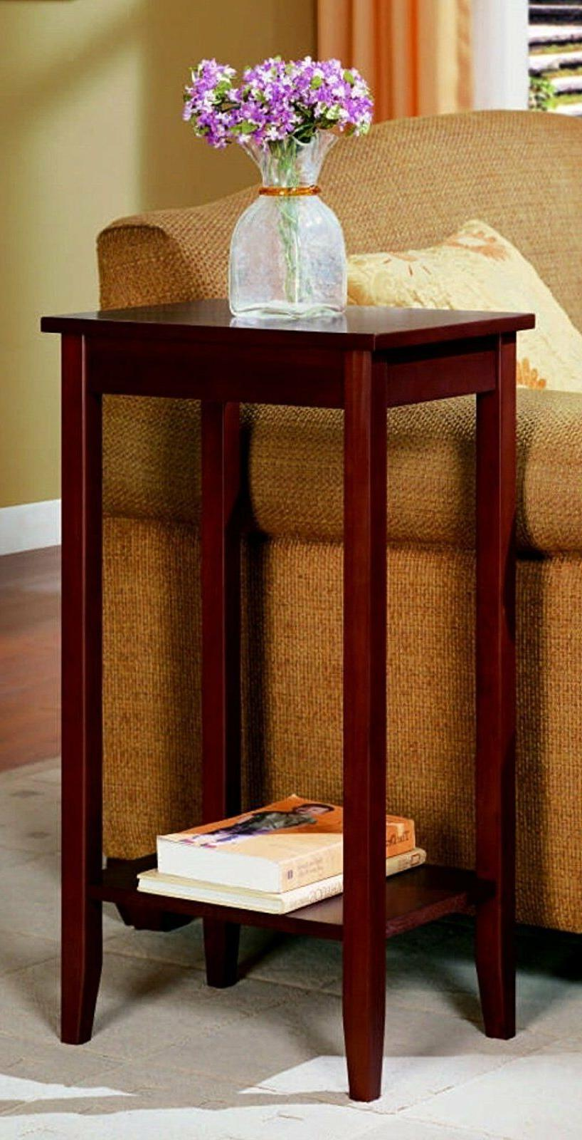 DHP Rosewood Tall End Table, Simple Design, Multi-purpose Sm
