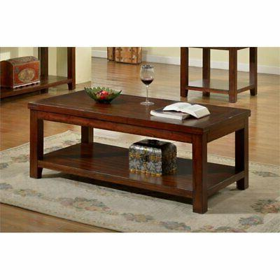 Furniture of America Torrence Transitional Coffee Table, Dar