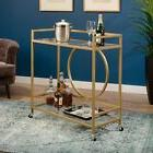 International Lux Bar Cart in Satin Gold