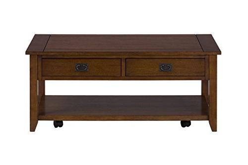 "Jofran: 1032-1, Mission Oak, Rectangle Cocktail Table, 44""W"