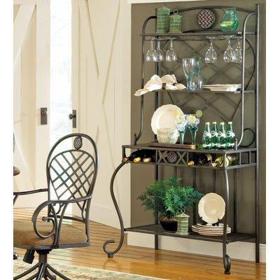 Madrid End Table w Glass Top in Antiqued Pewter Finish