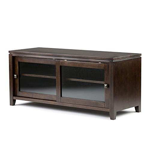 Simpli Home Cosmopolitan Solid Wood Stand for TV's up to 5