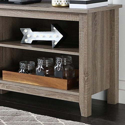 WE TV Stand Storage Console, Driftwood
