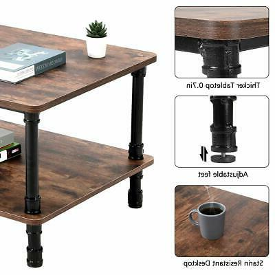 Accent Industrial Tea Table Storage Room