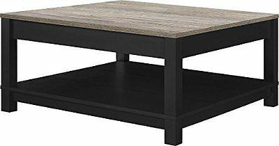 Altra Furniture Carver Coffee Table Black/Sonoma Oak, New