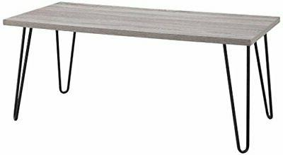 Ameriwood Home  Owen Retro Coffee Table with Metal Legs, Son