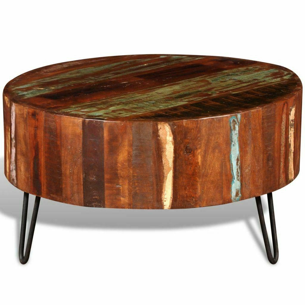 antique round cocktail coffee table