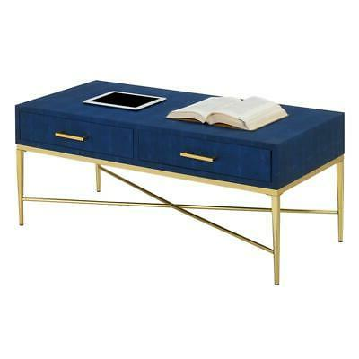 Convenience Ashley Table in Leather/Gold Wood