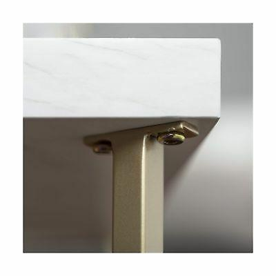 WE Furniture Table, Faux Marble/Gold