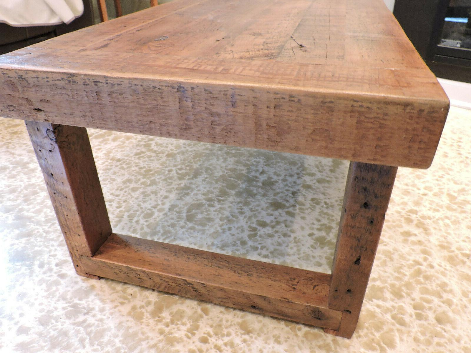 Barnwood Table. inch Top. 2''x3'. Handmade-BurntRock