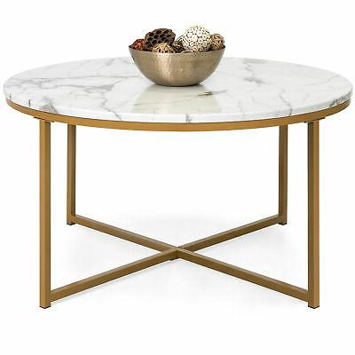 bcp 35in round accent coffee table home